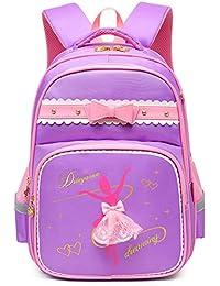 a73753de8d17 Girls Waterproof Ballet Girl Dancing Princess School Backpack Bookbag  (Large