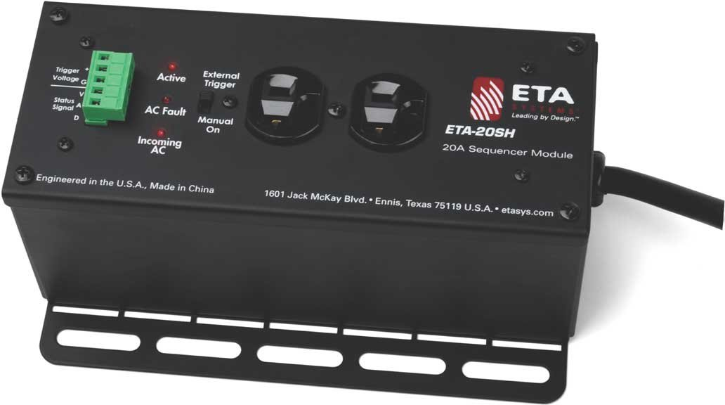 ETA-20SH 2 Outlet 20A Stand-Alone Power Distribution