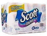 Scott 1000 Sheets Per Roll Toilet Paper,36 Rolls