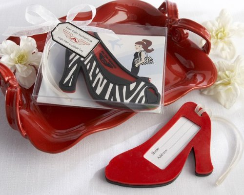 ''First Class Fashionista'' High Heel Luggage Tag [Set of 96] by Kateaspen