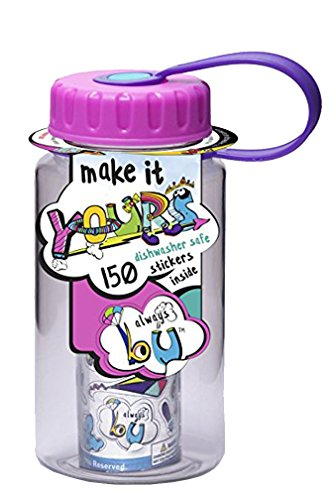 Water Bottle Holder Craft - Always B U Make It Yours 12 Oz Water Bottle with Stickers - Pink
