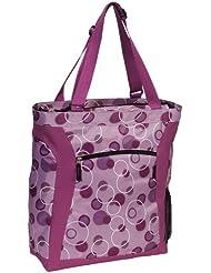 Everest Luggage Laptop Tote Bag, Light Purple/Dark Purple, Lavender/Dark Purple, One Size