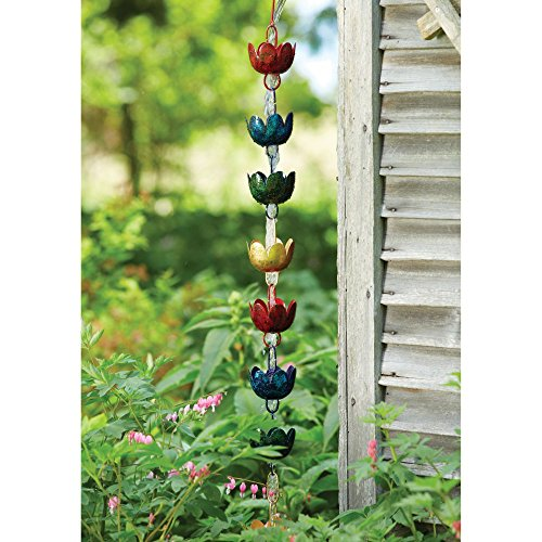 Ancient Graffiti Lily Cups Rain Chain (Copper Lily Rain Chain)