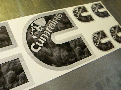 Cummins Decals Stickers Black Smoke 6pc Set Dodge