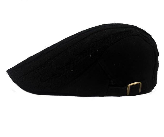 HEYFAIR Newsboy Cap Hooligan Hat for Men Women Knitted Wool Adjustable (1) b8e770781ec
