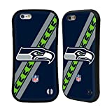 Official NFL Stripes Seattle Seahawks Logo Hybrid Case for Apple iPhone 6 / 6s