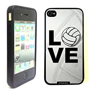 iPhone 4 4S Case ThinShell TPU Case Protective iPhone 4 4S Case Shawnex Volleyball Love Heart Volleyball Player