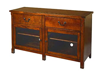 free shipping 654d1 b92da Amazon.com: EFD Rustic Tv Console Table Wood Country Style ...