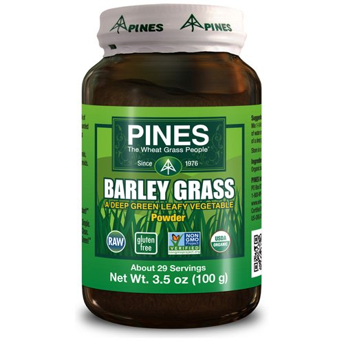 (Pines International - Pines International 100% Organic Barley Grass Powder - 3.5 Oz - Pack Of 1)