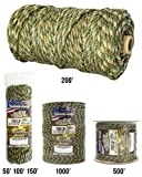 TOUGH-GRID 750lb Forest Camo Paracord / Parachute Cord - Genuine Mil Spec Type IV 750lb Paracord Used by the US Military (MIl-C-5040-H) - 100% Nylon - Made In The USA. 100Ft. - Forest Camo