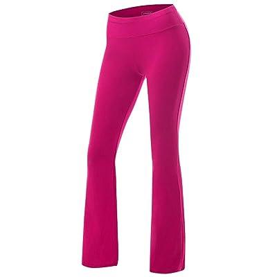 .com : Women's Yoga Pants Tummy Control Workout Running 4 Way Stretch Boot Leg Yoga Pants : Sports & Outdoors