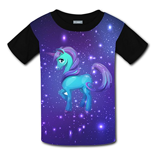Sparkle Unicorn Kids 3D Graphic Printed Short Sleeve Tee T shirts Boys Girls Tops L