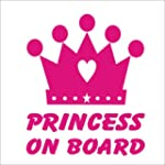 Princess On Board Crown Pink Novelty...