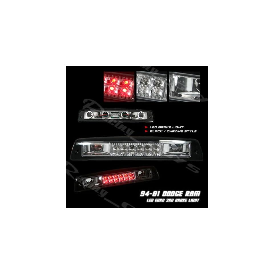 Dodge Ram Led Tail Lights Black Chrome LED Third Brake Lights 1994 1995 1996 1997 1998 1999 2000 2001 94 95 96 97 98 99 00 01