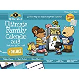 MotherWord MWFC01-28 Ultimate Family 16-Month Magnetic Wall Calendar, Deluxe Version, Sept 2017-Dec 2018, English, 18x13-1/2""