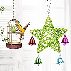 Pet Bird Chew Toy with Bells for Parrot Macaw African Greys Budgies Cockatoo Parakeet Cockatiel Conure Lovebirds-Random color