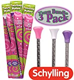Schylling Twirling Baton Pink, White & Purple Team Gift Set Bundle - 3 Pack