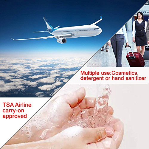Travel Bottle Set, Kaptron BPA Free TSA Approved Container Refillable Silicone Bottles,Travel Accessories Size with Clear Travel Bag for Toiletries, Cosmetics, Shampoo, Lotion, Conditioner- Set of 8