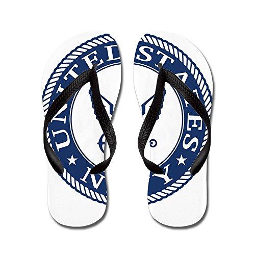 Cafepress Us Navy Symbol - Flip Flops, Grappige String Sandalen, Strand Sandalen Zwart