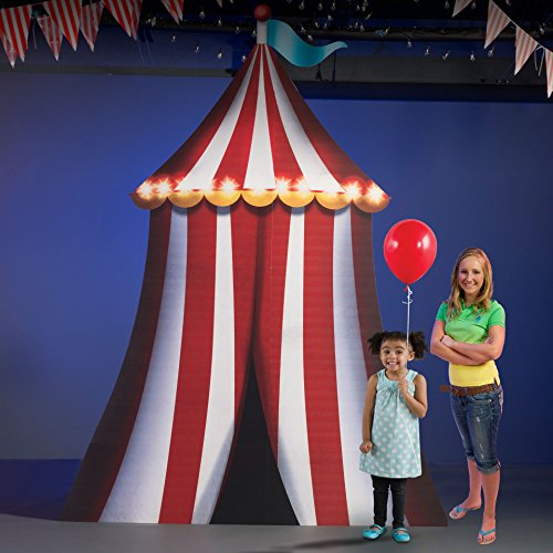 11 ft. 10 in. Carnival Circus Spectacular Vertical Tent Standee Standup Photo Booth Prop Background Backdrop Party Decoration Decor Scene Setter Cardboard Cutout -