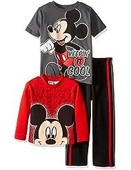 Disney Boys' Toddler Boys' Mickey Mouse 3 Piece Playwear Set-Fleece
