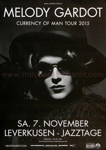 Melody Gardot - Currency Of Men Lvk 2015 - Concert Poster