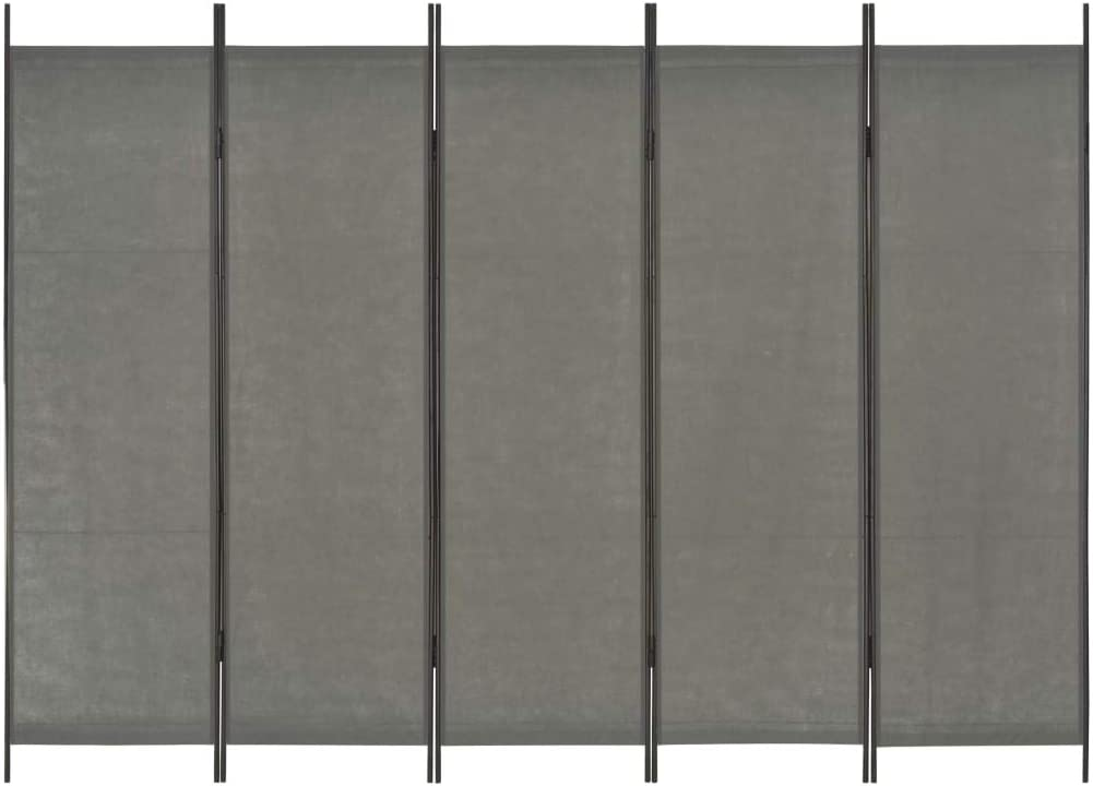 Festnight Cloison de S/éparation 4 Panneaux pour Chambre /à Coucher Salon ou Bureau Noir 160 x 180 cm