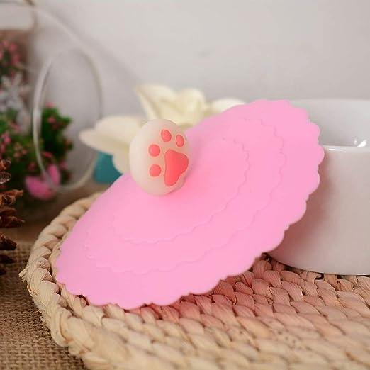 Ficony 4 Pezzi//Set coperchi Tazza di Silicone per Uso Alimentare 4 Colori sigillati Simpatici Artigli di Gatto a Prova di perdite Tazza di caff/è Coperchio Copri Ventosa sigillato