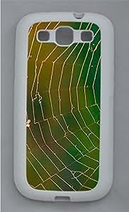 Autumn Spider Web PC Hard Silicone Case Cover for Samsung Galaxy S3 I9300 White