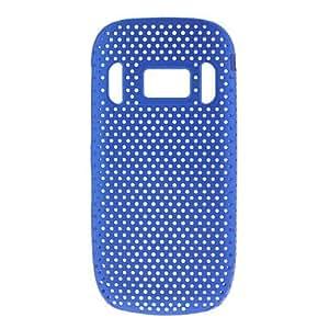Solid Color Mesh Designed PC Hard Case for Nokia C7-00 (Assorted Colors) --- COLOR:Black