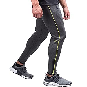 Mechaneer Men's Active Bodbuilding Gym Workout Joggers Pants
