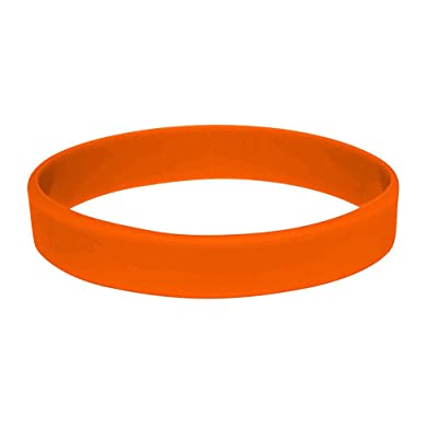 5pcs/set blanco pulsera de silicona pulseras de goma, naranja: Deportes y aire libre