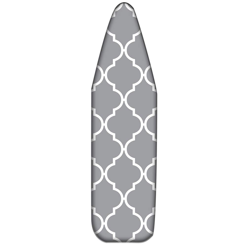 Basic Standard Padded Ironing Board Cover,100/% Cotton Fabric Thick Pad Heat Resistance,Scorch and Stain Resistant,Durable Ironing Board Replacement Cover,Gift for Wife CYFC1636 47x15-Inch