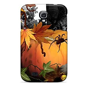 LatonyaSBlack Snap On Hard Case Cover Halloween Haunt Protector For Galaxy S4