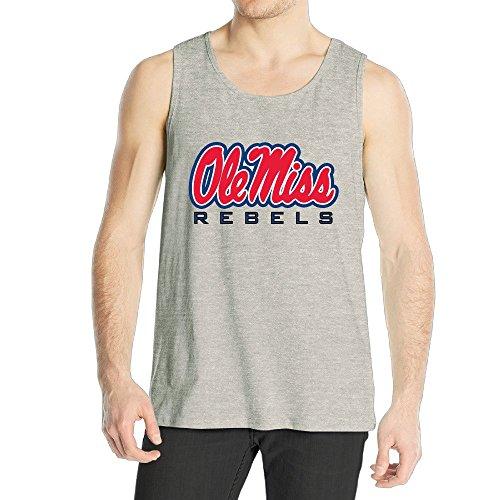 Men's Ole Miss Rebels Logo Tank Top Ash