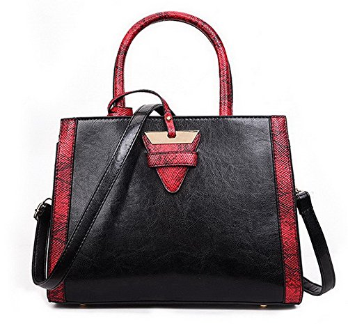 Voguezone009 Women Casual Fashion Buckle Shoulder Bags Pu Bags Red Cross
