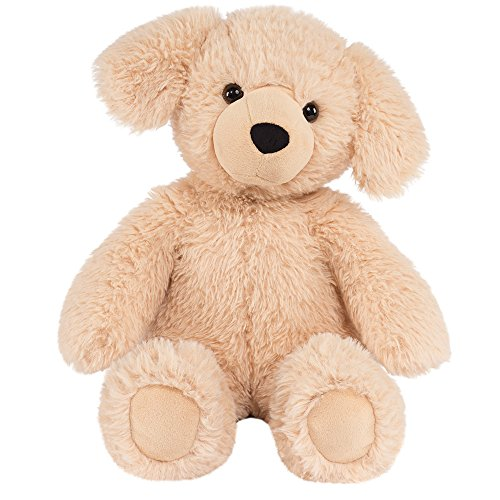 Vermont Teddy Bear Amazon Exclusive Oh So Soft Puppy Dog Stuffed Animals, Brown, 18 -