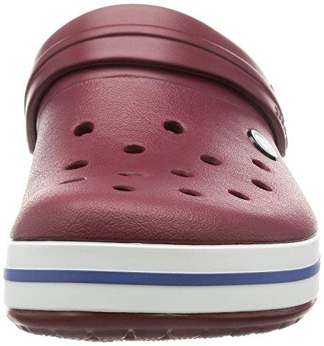 Crocs Crocband Clog Zuecos con Correa, Unisex Adulto Garnet/White