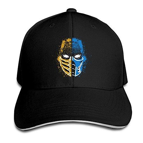 Bro-Custom Zero Mortal Kombat Scorpion Vs Sub Sandwich Adjustable Hat UV Protect Chapeau - Balance Card Gift Y Big