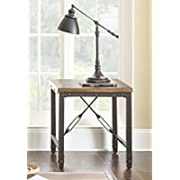 Steve Silver Ashford End Table in Antiqued Honey