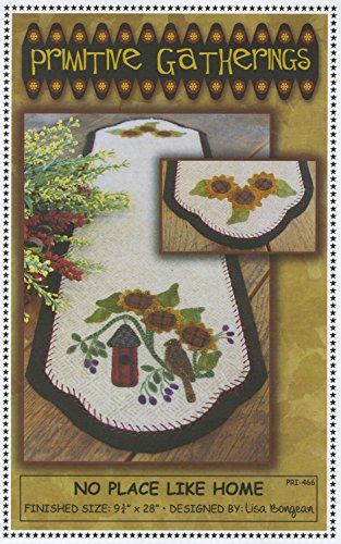 No Place Like Home Spring Birdhouse Wool Pattern Primitive ()
