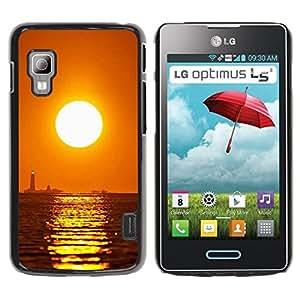 TopCaseStore / la caja del caucho duro de la cubierta de protección de la piel - Sunset Sea Beautiful Nature 16 - LG Optimus L5 II Dual E455 E460