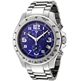 Swiss Legend Men's 50041-33 Eograph Collection Chronograph Blue Dial Stainless Steel Watch