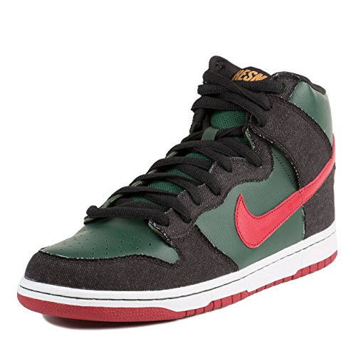 Nike Mens Dunk High Premium SB RESN Deep Forest/Paprika Synthetic Skateboarding Size 11.5