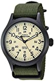 Timex Men's TW4B15500 Expedition Scout 40 Green/Black/Cream Nylon Slip-Thru Strap Watch
