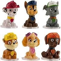 6 figuras decorativas para tartas, con diseño de los personajes de La patrulla canina