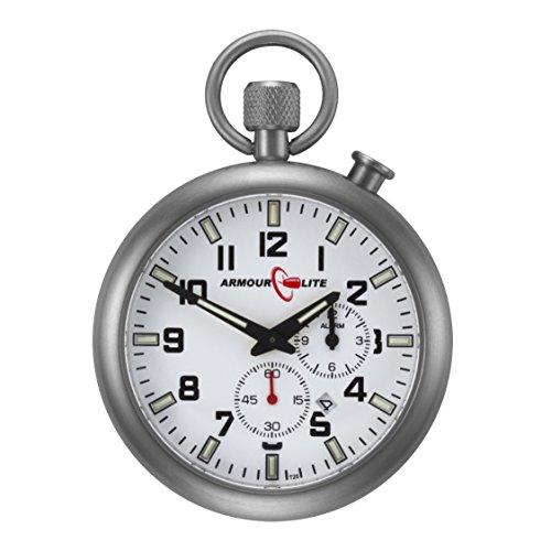 ArmourLite Mens Alarm Pocket Watch w/ Date, ALPW01