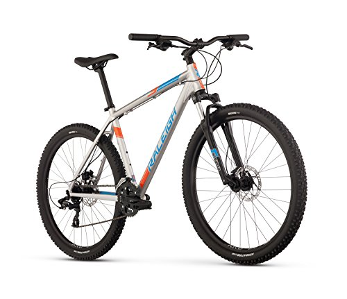 Raleigh Bikes Raleigh Talus 3 Mountain Bike, 15/Sm Size, Silver, 15″ / Small Review