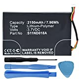 High Capacity Replacement 2150mAh MLP305787 S11ND018A DR-NK03 Battery for Barnes & Noble Nook Simple Touch BNRV300 6'' eReader with Installation Tools