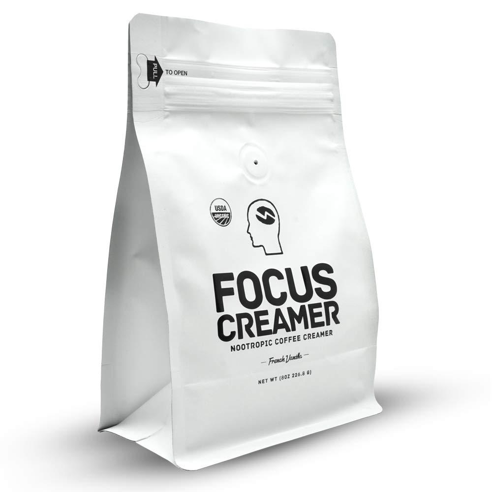 Focus Creamer - French Vanilla Keto Creamer, Organic, Non Dairy, Sugar Free, Nootropic Coffee Creamer